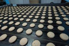 Beaucoup production massive de gâteau d'usine douce de nourriture Photo stock