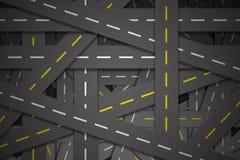 Beaucoup route de à travers route illustration stock