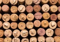 Beaucoup wine des lièges, macro vue photographie stock libre de droits