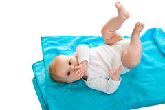 Beaufiful caucasian infant baby Royalty Free Stock Photo