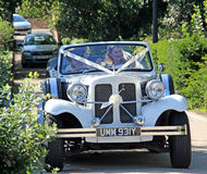 Beauford car wedding bride Royalty Free Stock Photo