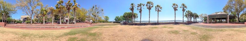 Beaufort全景从房间海滨公园的,南 免版税库存图片