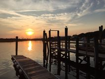 Beaufort小游艇船坞,威明顿,北卡罗来纳 免版税库存图片