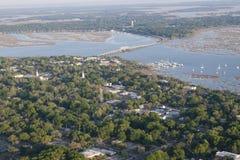Вид с воздуха beaufort, Южной Каролины Стоковые Изображения RF