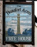 Beaufort Arms public house sign, Hawkesbury Upton royalty free stock photography