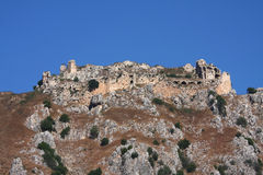 Beaufort Castle, Lebanon. Perched on top of 700m high steep incline, the famous landmark crusader castle in the South of Lebanon has dominated the horizon for Stock Image