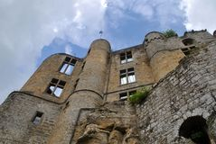 Beaufort Castle, Luxembourg. Outside view of the medieval Beaufort Castle in Beaufort, Luxembourg Stock Image