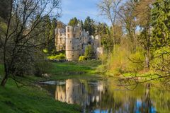 Beaufort castle ruins in Luxembourg. Architecture background Royalty Free Stock Image