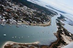 Beaufort la Caroline du Nord et Taylor Creek photos stock