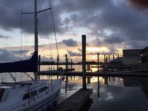 Beaufort marina, Pólnocna Karolina Fotografia Stock