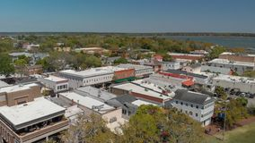 Beaufort park aerial view, SC.  stock photo