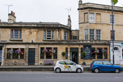 The Beaufort Public House wide. BATH, SOMERSET, UK - JULY 15 2016 Pub on London Road in the UNESCO World Heritage City of Bath, in Somerset, England Royalty Free Stock Photography