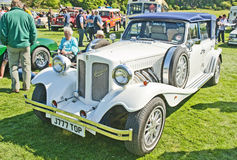 Beaufort white wedding car at Forres Theme day. Stock Images