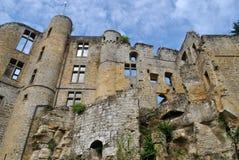 Beaufortkasteel, Luxemburg stock afbeelding