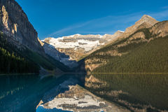 Beauful Lake Louise, Alberta, Canada. Mountains and Glacier reflecting at Lake Louise, Alberta, Canada Royalty Free Stock Image