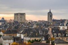 Beaugency mitt, Frankrike Royaltyfri Foto