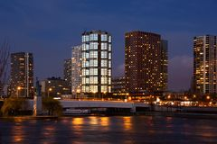 Beaugrenelle skyline Royalty Free Stock Image