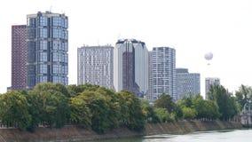 Beaugrenelledistrict in Parijs, naast de Zegen stock footage