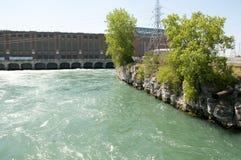 Beauharnois水坝-魁北克-加拿大 免版税库存图片