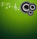 beauitful绿色音乐闪闪发光向量 免版税图库摄影