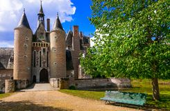 Romantic beautiful castles of France- Moulin in Loire valley Stock Images
