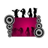 A beauitful musical vector design Royalty Free Stock Photography