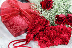 Beauitful Roses and Lingerie Royalty Free Stock Photo