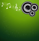 A beauitful sparkle green music vector Royalty Free Stock Photography