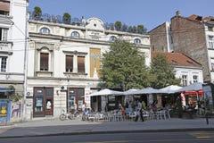 Beauitufl buildings in Terazije street, Belgrade. Serbia Stock Images