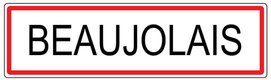 Beaujolais city traffic sign illustration in France Royalty Free Stock Photos