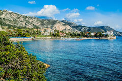 Beaulieu french riviera. Beaulieu bay in alpes maritimes french riviera France Royalty Free Stock Images