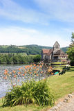 Beaulieu sur Dordogne, Correze, France waterfront Royalty Free Stock Photo