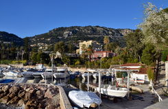 BEAULIEU-SUR-MER, FRANCE - View on harbor Stock Photography