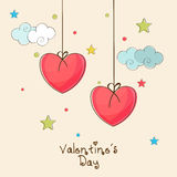 Beauliful greeting card for Valentine's Day celebration. Stock Image