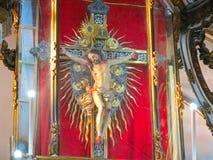 Beaultiful Jesus Image i kyrka royaltyfri fotografi