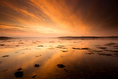 Beauly beauty. Sunset on Beauly Firth near Inverness in Scotland Stock Image
