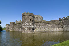 Beaumaris Castle. And Moat on the Isle of Anglesey in North Wales Stock Photos