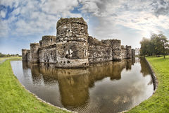 Beaumaris Castle in Anglesey, North Wales, United Kingdom, series of Walesh castles Royalty Free Stock Photography