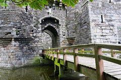 Beaumaris Castle in Anglesey, UK. Entrance to Beaumaris Castle in Anglesey, Wales, UK Royalty Free Stock Photo