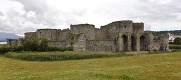 A Beaumaris Castle Back View on Anglesey, Wales Stock Image