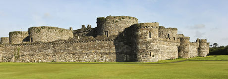 A Beaumaris Castle Lawn on Anglesey, Wales Stock Images