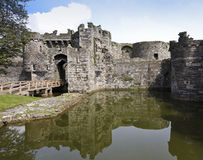 A Beaumaris Castle Moat on Anglesey, Wales Stock Photo