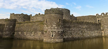 A Beaumaris Castle Moat on Anglesey, Wales Stock Image