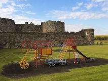 A Beaumaris Castle Playground on Anglesey, Wales Royalty Free Stock Images