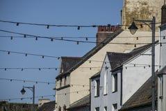 Beaumaris, Gales - luzes de rua fotografia de stock