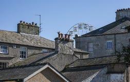 Beaumaris, Gales - os telhados fotos de stock