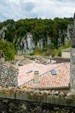 Beaume Λα χωριό στον ποταμό Ardeche Στοκ φωτογραφίες με δικαίωμα ελεύθερης χρήσης