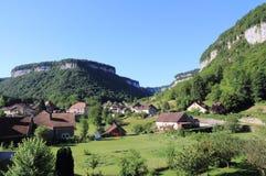 Beaumes-les-Messieurs en el Jura imagen de archivo