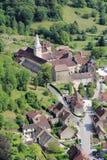 Beaumes-les-Messieurs en el Jura foto de archivo libre de regalías