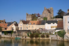 Beaumont sur Sarthe in France Stock Image